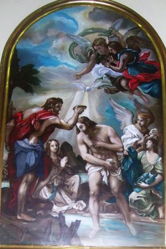 Torna A Splendere Il Quadro Del Battesimo Di Cristo Nella Chiesa Del Sacro Cuore Di Gesu Ad Augusta A U G U S T A N E W S