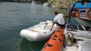 Furto e ritrovamento di un natante, rubato ad un'imbarcazione da diporto di bandiera inglese - Salvataggio di un assistente bagnanti in difficoltà sul proprio pattino