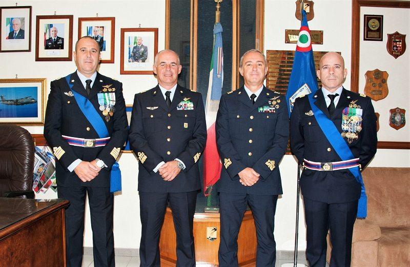 da sx Col Fedele, Gen Boi, Gen Magnani, Col Frare