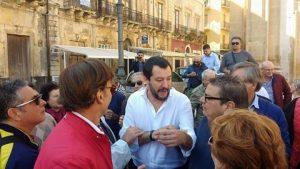 Salvini in Piazza Duomo