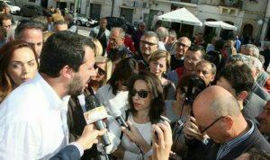 Salvini intervistato da Cecilia Càsole